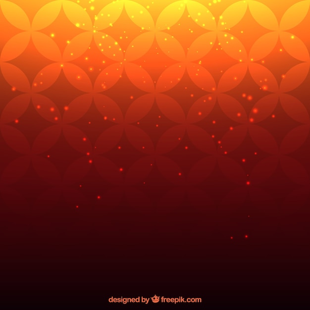 Gradient background with retro print