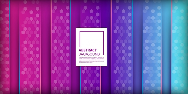 Gradient background with vertical shapes Premium Vector