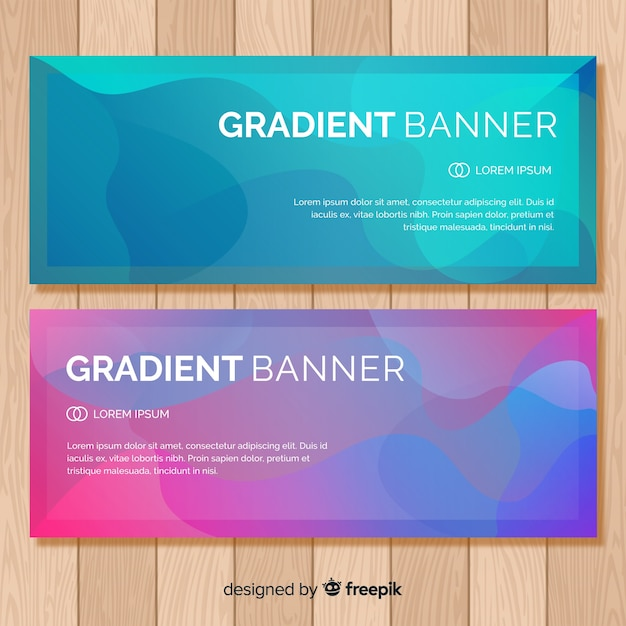 Gradient banners Free Vector