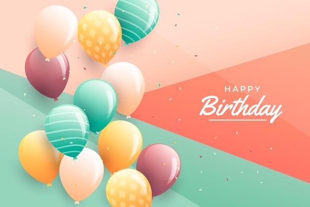 Gradient birthday background Free Vector