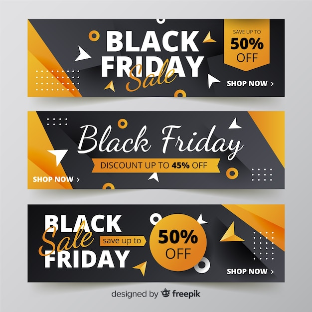 Gradient black friday banners Free Vector
