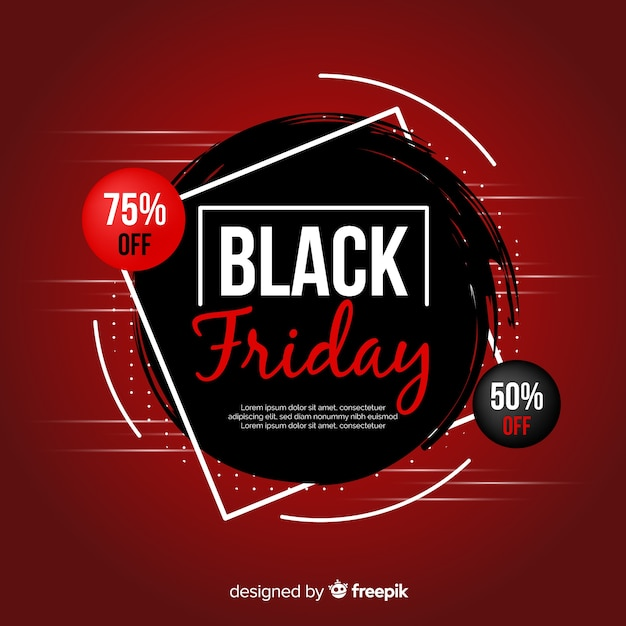 Gradient black friday promotion background Free Vector