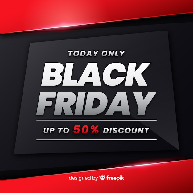 Gradient black friday promotion Free Vector