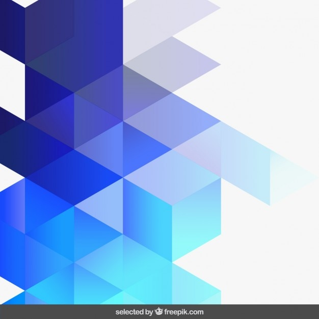 Gradient blue geometric background