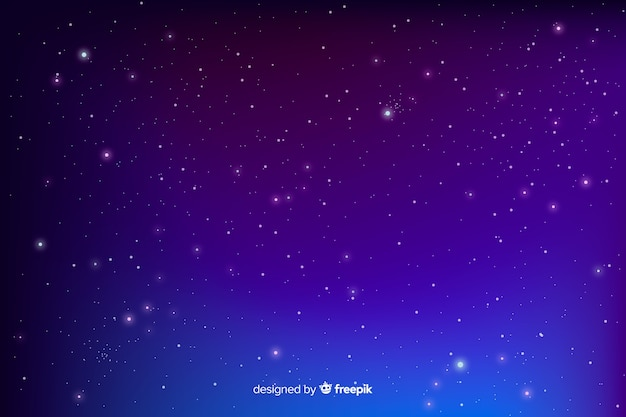 Gradient blue starry night background Free Vector