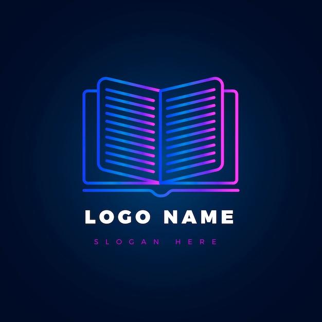 Логотип книги градиента Premium векторы