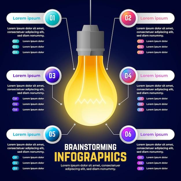 Infografica di brainstorming gradiente Vettore gratuito