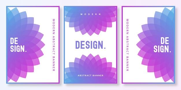 Gradient brochure Premium Vector