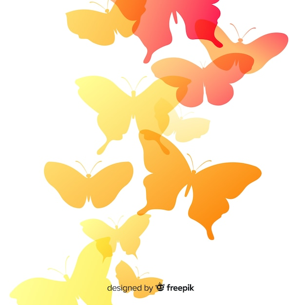 Butterfly clipart. Set of butterflies silhouettes isolated on white  background in vector format very easy to edit, individual | CanStock