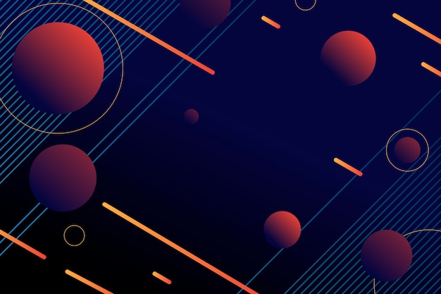 Gradient circle shapes on dark background Free Vector