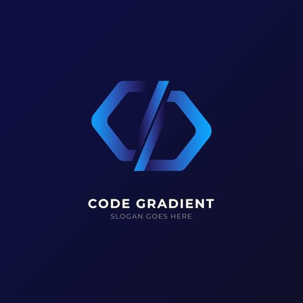 グラデーションコードのロゴ 無料ベクター