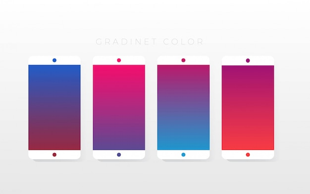 Gradient color collections pack Premium Vector