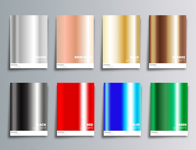 Gradient color cover background Premium Vector