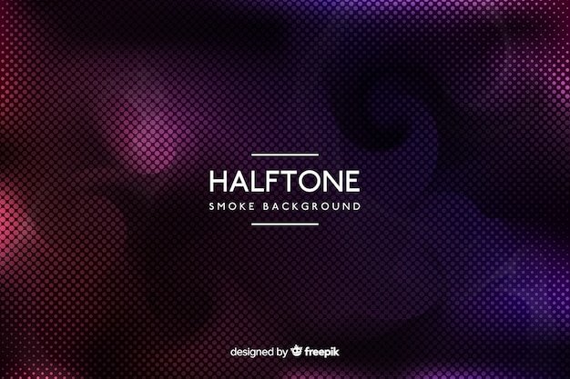 Gradient colorful halftone smoke background Free Vector