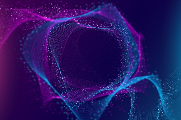 Gradient colorful particles background Free Vector