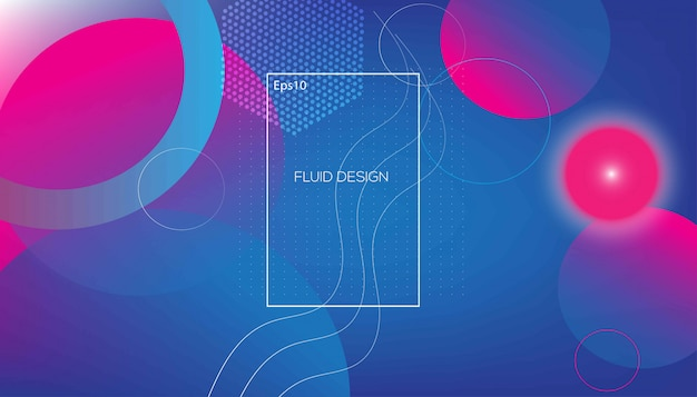 Gradient colors background on blue and pink Premium Vector