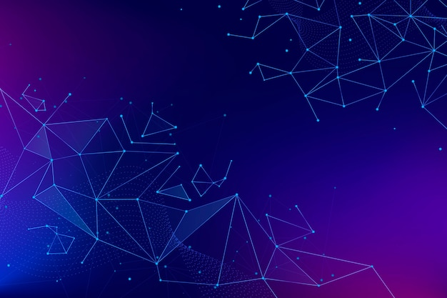 Gradient connection background Free Vector