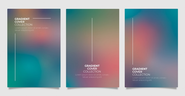 Gradient cover collection Free Vector