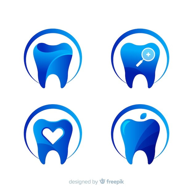 Gradient dental clinic logo Free Vector