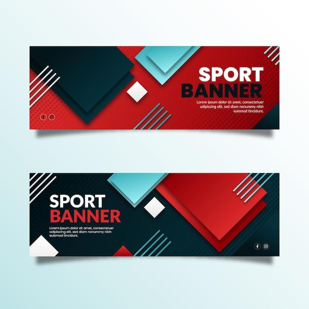 Gradient design sport banner Premium Vector
