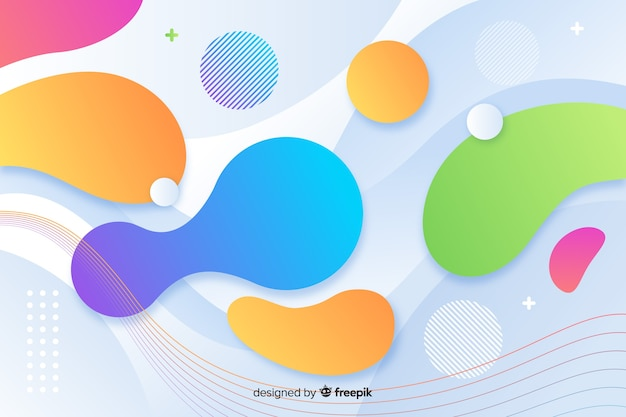 Gradient dynamic rounded shapes background Free Vector