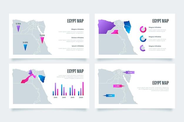 Градиентная карта египта инфографики Бесплатные векторы
