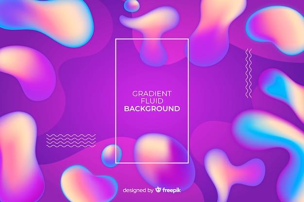 Gradient fluid background Free Vector