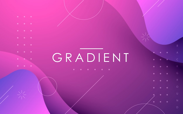 Gradient fluid shape abstract geometric background Premium Vector