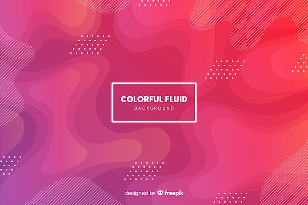 Gradient fluid shapes background Free Vector