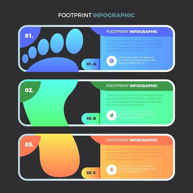 Инфографика градиентного следа Бесплатные векторы