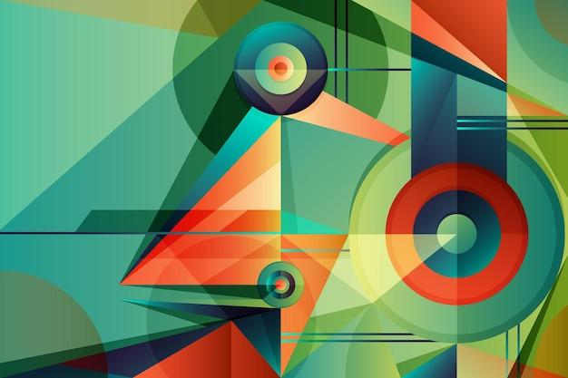 Градиент геометрического фона Бесплатные векторы