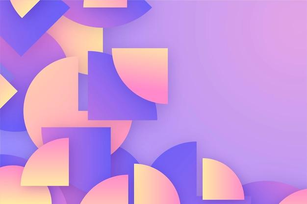 Sfondo geometrico sfumato Vettore gratuito