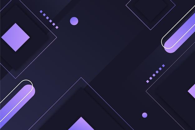 暗い背景にグラデーションの幾何学的設計 無料ベクター