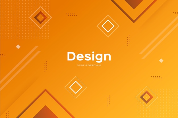 Gradient geometric models background Free Vector