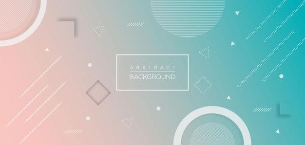 Gradient geometric shape background Premium Vector