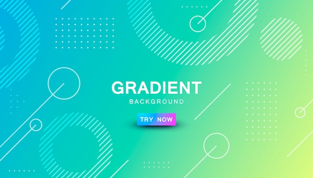 Gradient geometric shape background Premium Vector