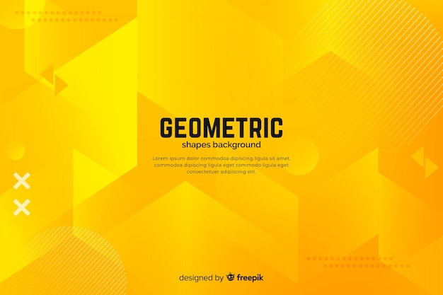 Gradient geometric shapes background Free Vector