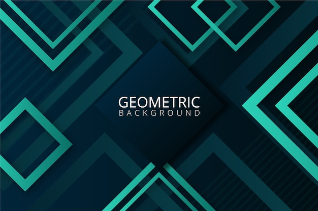 Gradient geometric shapes on blue background Free Vector