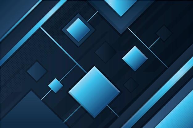 Gradient geometric shapes on dark background Free Vector