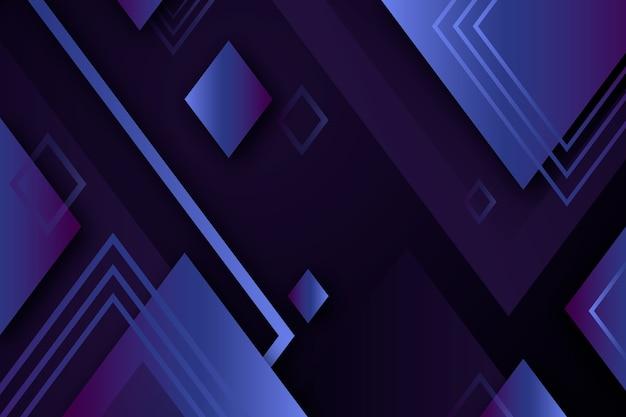 Градиент геометрических фигур на темном фоне Бесплатные векторы