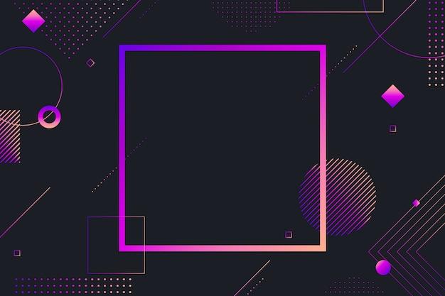 暗い背景にグラデーションの幾何学的図形 無料ベクター