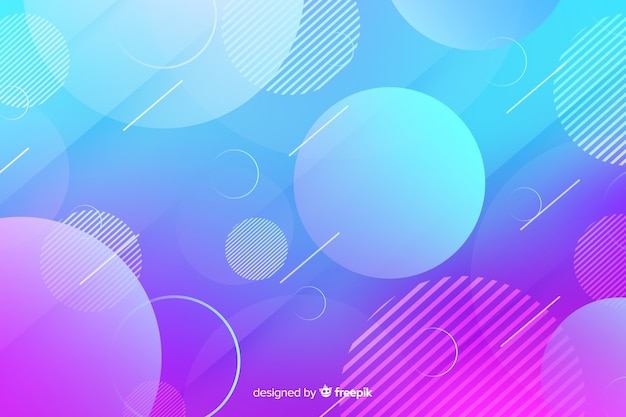 Gradient geometric shapes with circles Free Vector