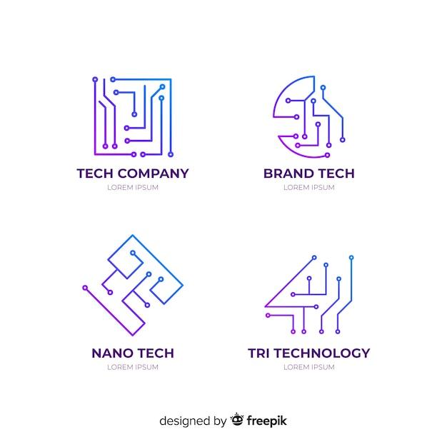 Gradient Geometric Technological Logotype