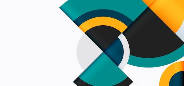Carta da parati geometrica sfumata con diverse forme colorate Vettore gratuito