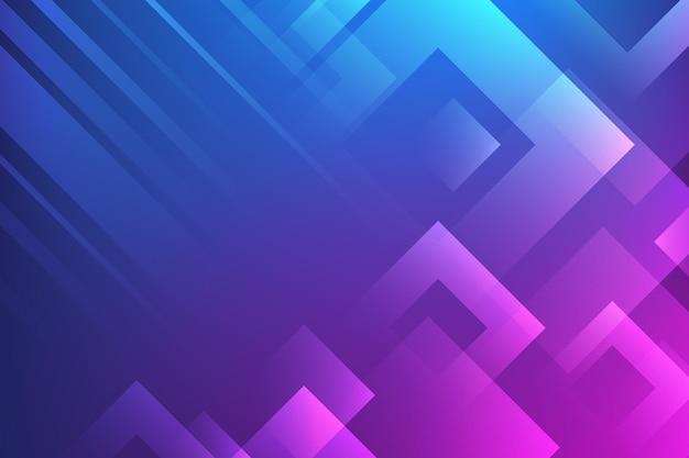 グラデーションの幾何学的な壁紙 無料ベクター