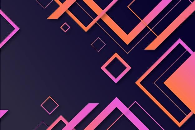 暗い壁紙にグラデーションの幾何学的図形 Premiumベクター