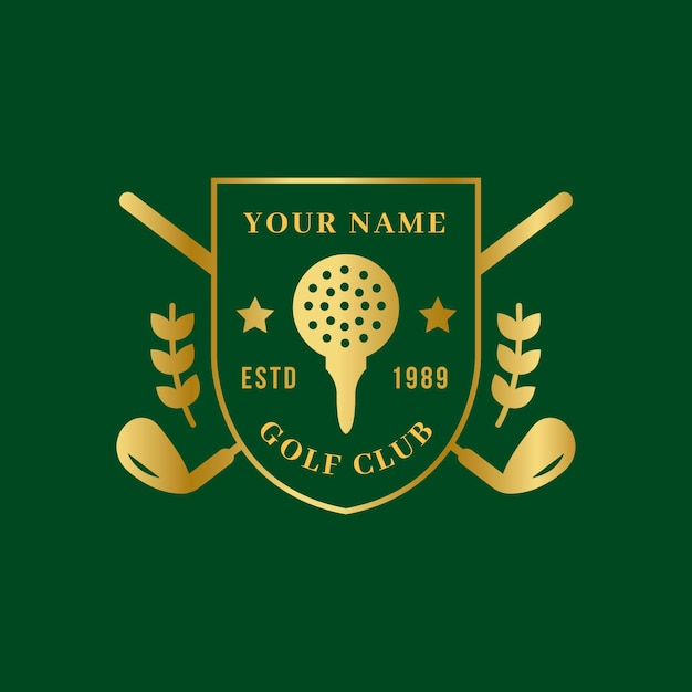 Gradient golf logo Free Vector