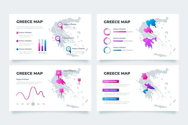 Gradiente grece mappa infografica Vettore gratuito
