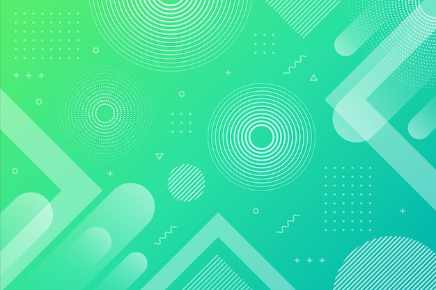 Gradient green blue abstract geometric background Premium Vector