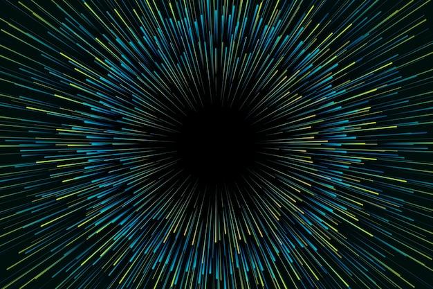 Градиент зеленый фон огни скорости Бесплатные векторы